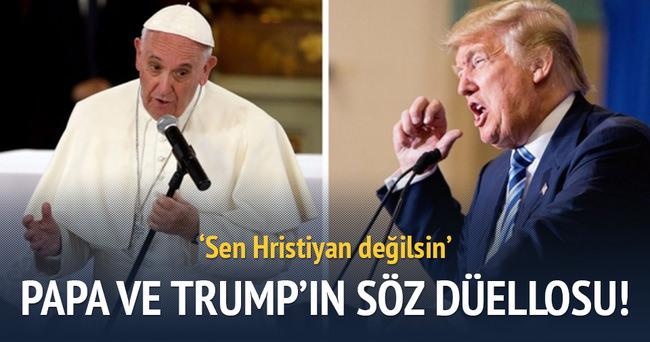 Papa ile Trump arasında söz düellosu