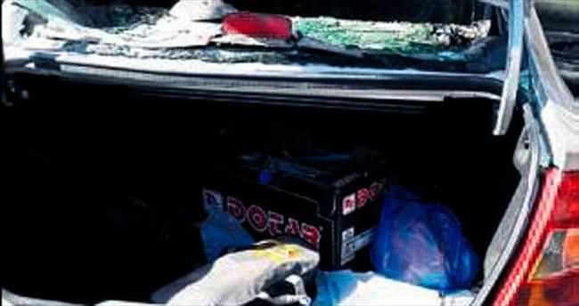 Tarım müdürlüğüne ait otomobile molotof atıldı
