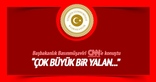Başbakanlık Basın Başmüşaviri Sert, CNN International'a konuştu