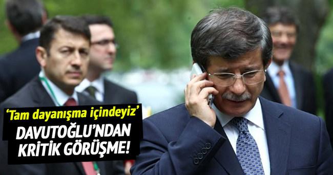 Davutoğlu ile Barzani telefonda görüştü