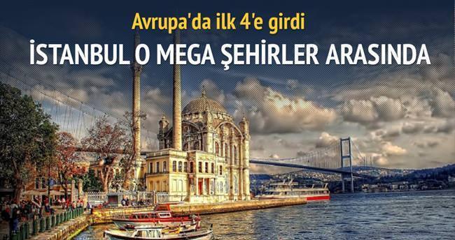 İstanbul 4 mega şehir arasında
