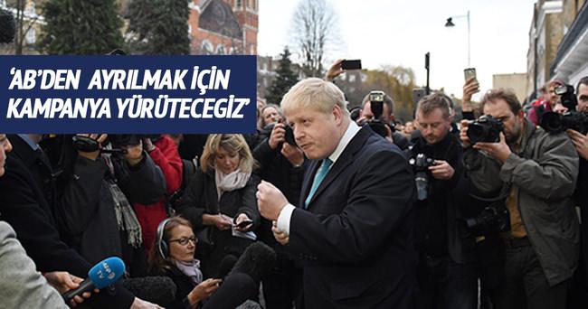 Londra Belediye Başkanı Boris Johnson: AB'den ayrılmak için kampanya yürüteceğiz