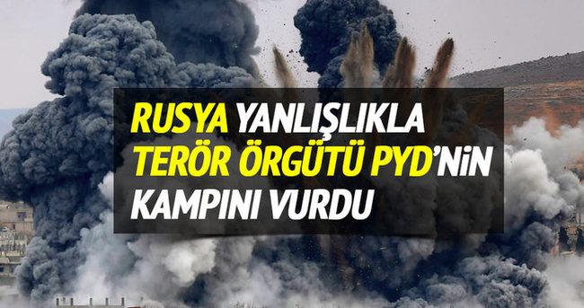 Rusya yanlışlıkla PYD kampını vurdu