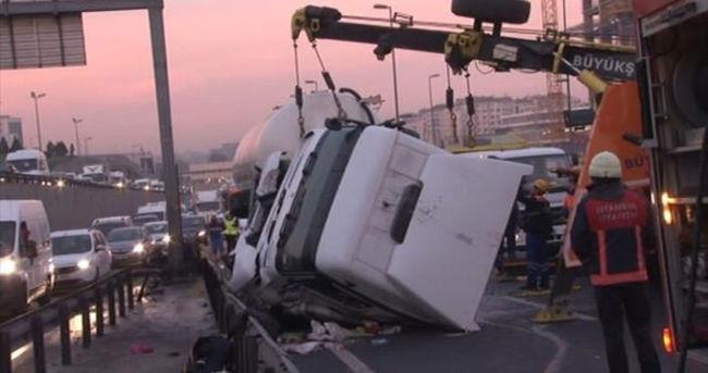 E5 Karayolu'nda trafik kilitlendi