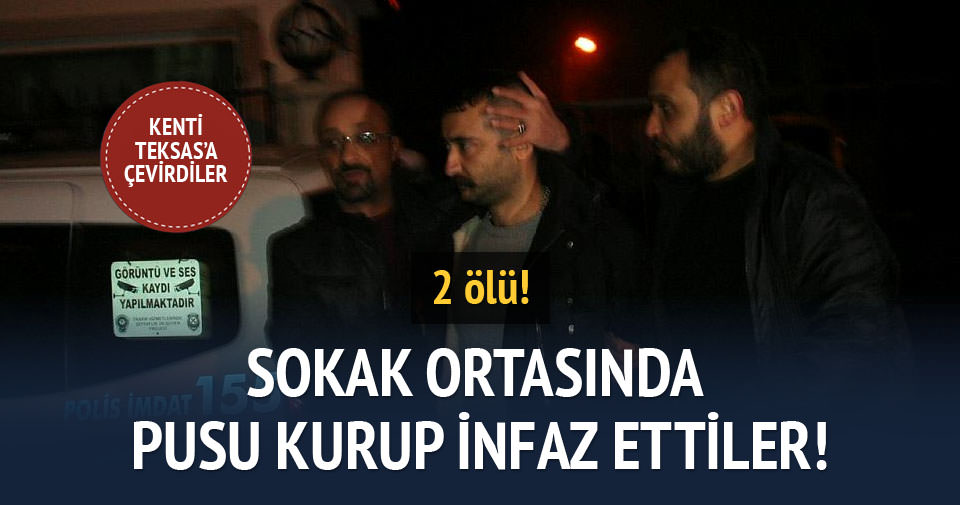 Konya'da sokak ortasında silahlı çatışma: 2 ölü