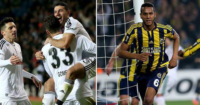 Fenerbahçe ve Beşiktaş kasalarını doldurdu