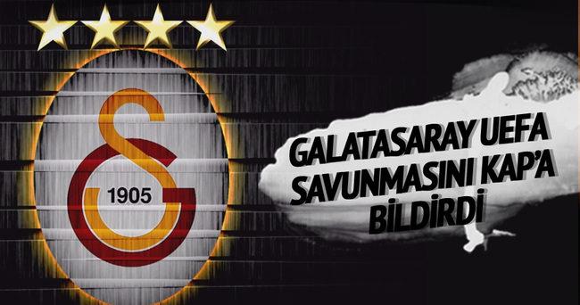 Galatasaray, UEFA savunmasını KAP'a bildirdi·