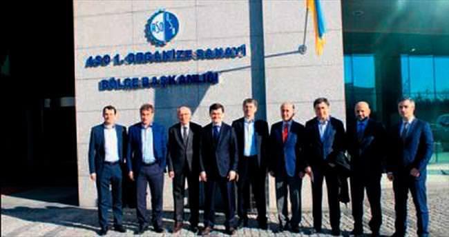 Ukraynalı vekiller ASO 1. OSB'de