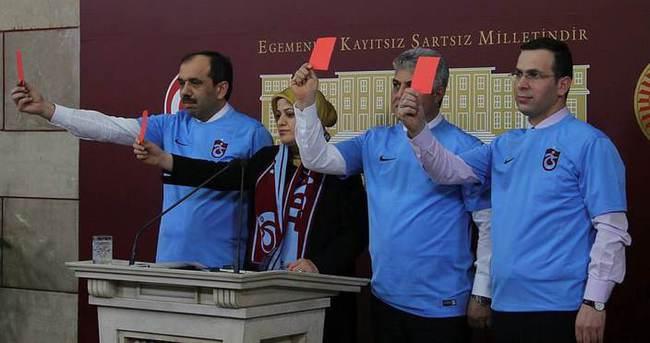 Hakemlere bir kırmızı kart da TBMM'den!