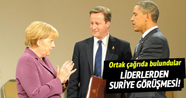 Liderler Suriye'yi görüştü