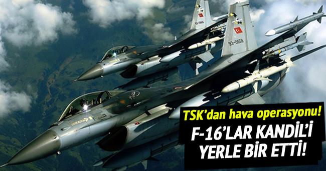 PKK'nın Kandil'deki kampları vuruldu!