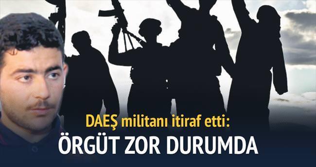 DAEŞ militanı: Örgüt zayıflıyor