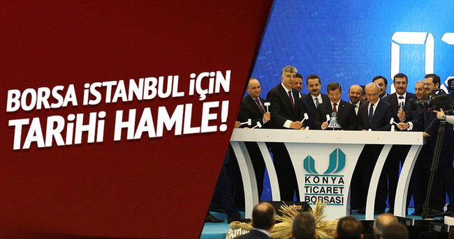 Davutoğlu: Borsa İstanbul için tarihi hamle