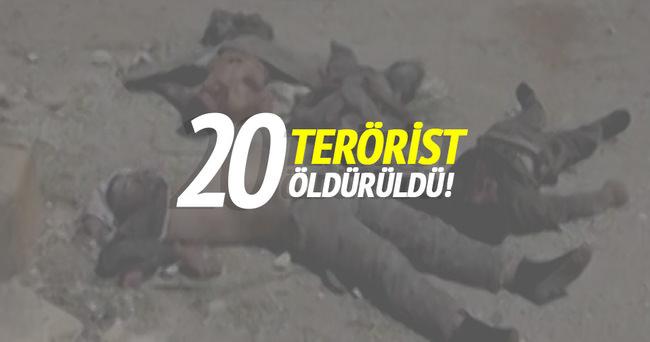TSK: 20 terörist öldürüldü