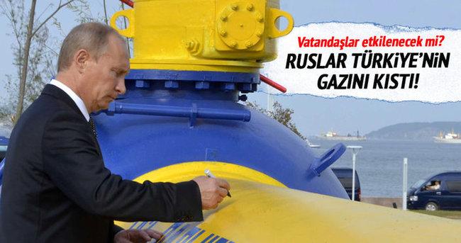 Rusya Türkiye'ye gaz akışını kıstı