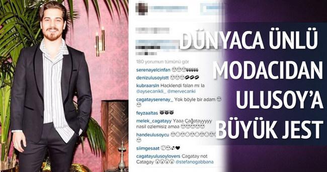 Çağatay Ulusoy'dan şaşırtan fotoğraf