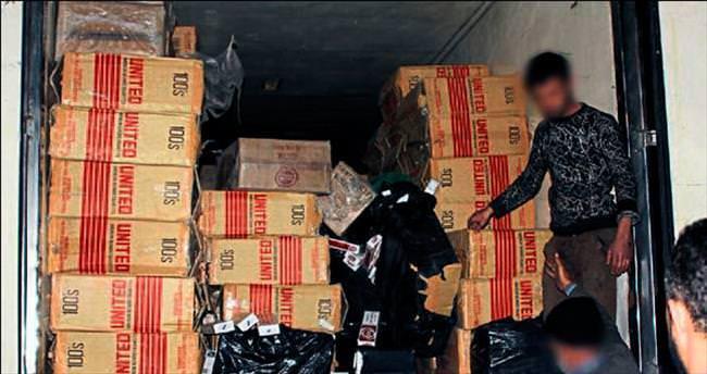 Gaziantep'te kaçak sigara rekoru