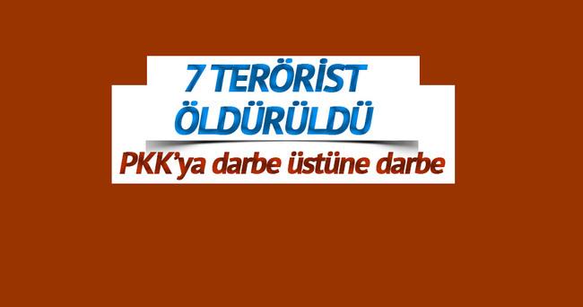 Derik'te 7 terörist öldürüldü