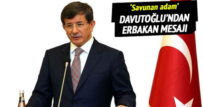Davutoğlu'ndan Erbakan mesajı!