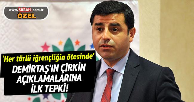 AK Parti'den Demirtaş'a ilk tepki!