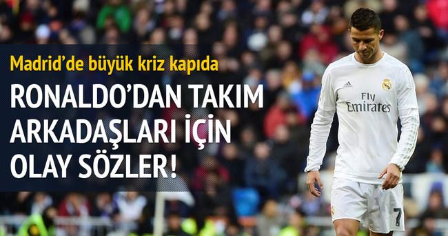 Ronaldo'dan takım arkadaşları için olay sözler