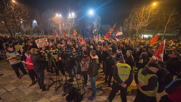 Karadağ'da hükümet karşıtı protesto