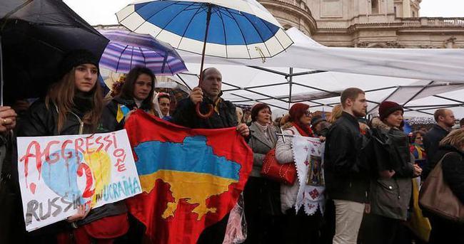Roma'da Rusya protestosu