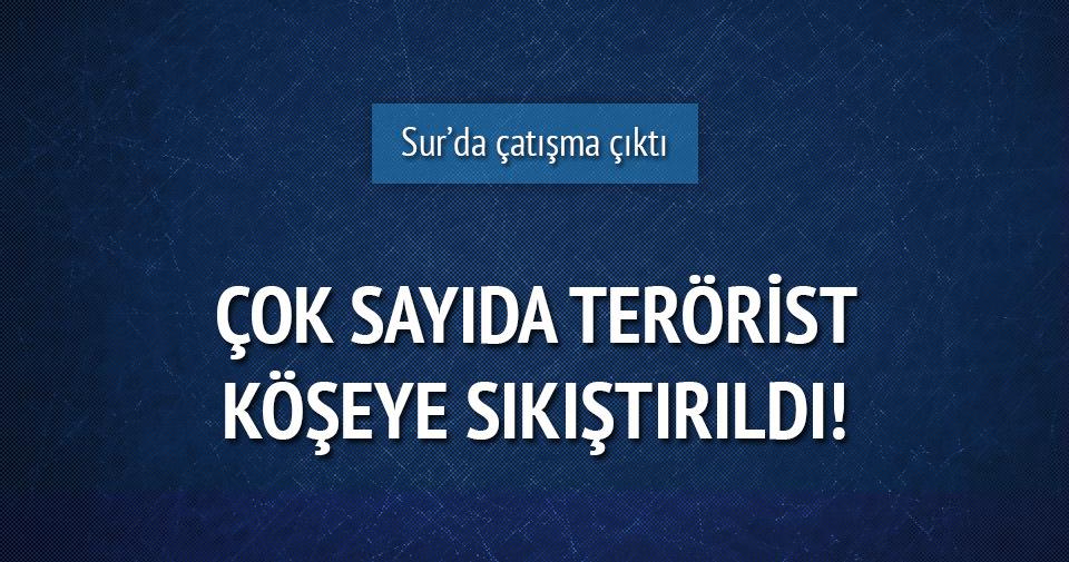 Sur'da çatışma! 20 PKK'lı kıstırıldı