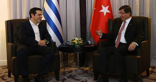 Başbakan Davutoğlu, Çipras ile görüşecek