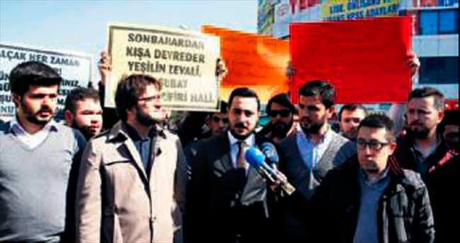 Sincan'ın Ankara Caddesi'nde 28 Şubat yürüyüşü