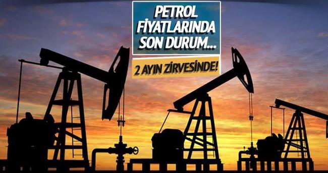Brent petrol yaklaşık 2 ayın zirvesine çıktı