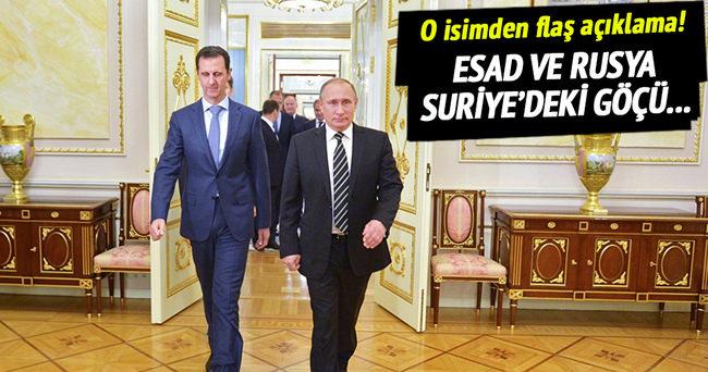 Esad ve Rusya göçü silah haline getirmek istiyor