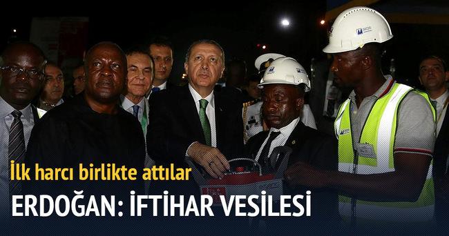 Erdoğan Gana'da temel atma törenine katıldı