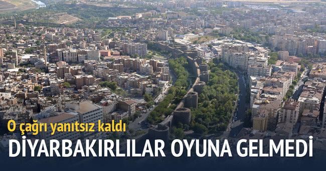 Diyarbakırlılar 'yürüyüş' çağrısına uymadı