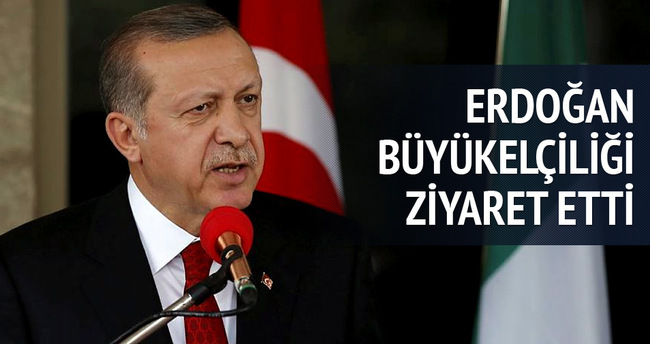 Erdoğan Abuja Büyükelçiliğini ziyaret etti