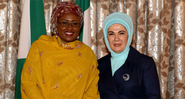 Emine Erdoğan, Buhari'nin eşi Aishe Buhari ile görüştü