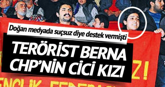 Terörist Berna CHP'nin cici kızı