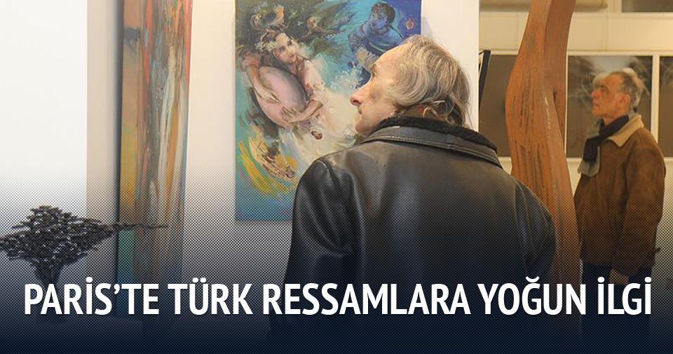 Paris'te Türk ressamların sergisi ilgi gördü