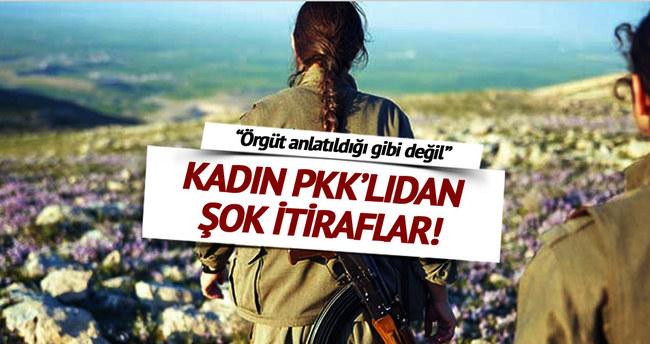 Teslim olan PKK'lı kadından şok itiraf