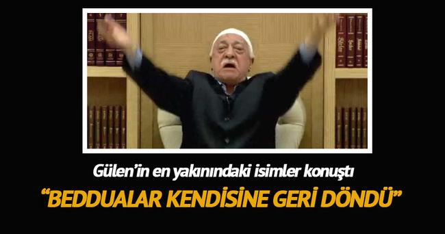 Beddualar Gülen'e geri döndü
