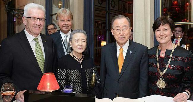 2015 Alman Medya ödülü Ban Ki Moon'a verildi