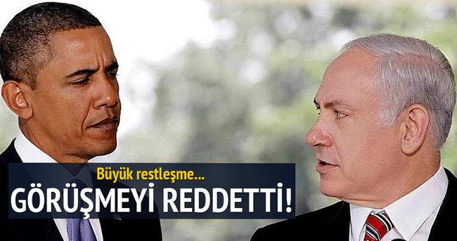 Netanyahu, Obama ile görüşmeyi reddetti