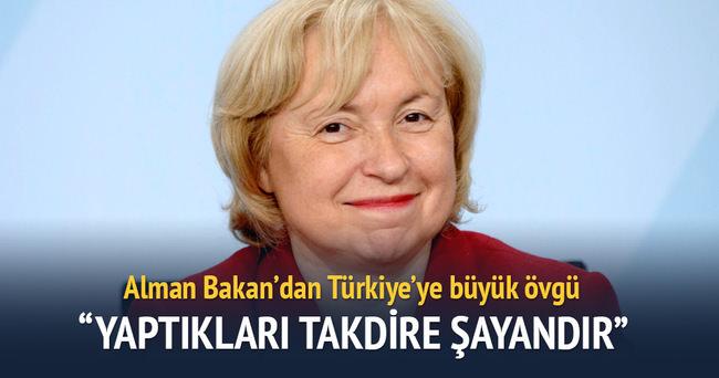 Alman Bakan Maria Böhmer'den Türkiye'ye övgü