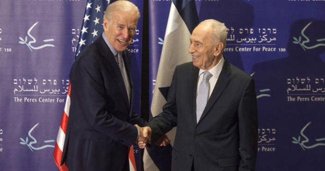 Biden, eski İsrail Cumhurbaşkanı Perez'le görüştü