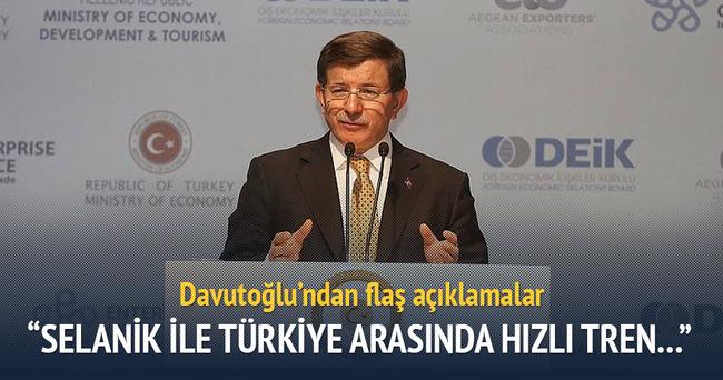 Davutoğlu: Selanik ile Türkiye arasında hızlı tren planlıyoruz