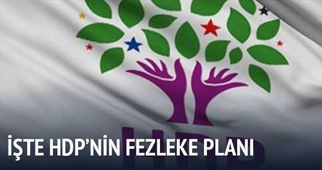 HDP'nin fezleke planı
