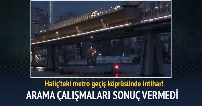 Haliç'teki metro geçiş köprüsünde intihar!