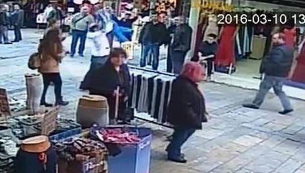 Suriyeli çocuğu yere vuran vicdansız yakalandı