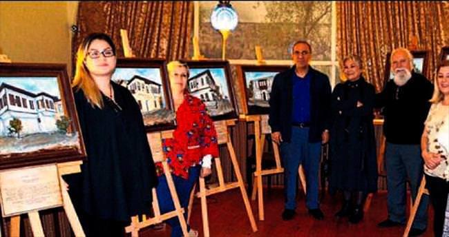 Kaleiçi'ndeki evler sanatla yaşatılıyor