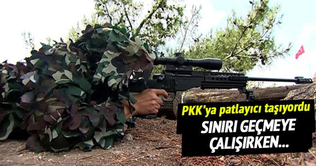 Patlayıcıyla sınırı geçmeye çalışan PKK'lı vuruldu